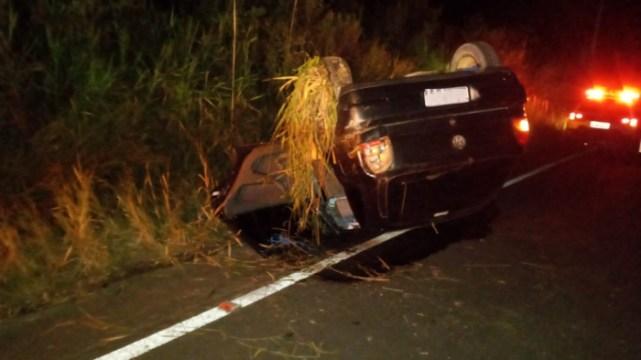 Carro de Taió se envolve em grave acidente em Rio do Campo