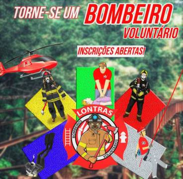 Inscrições para o Curso de Formação Básica dos Bombeiros Voluntários de Lontras terminam nesta sexta (18)