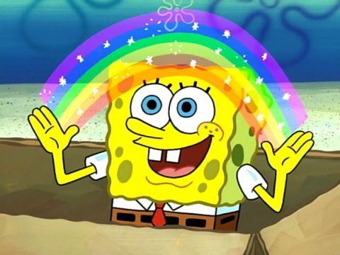 Em 2020, a Nickelodeon assumiu oficialmente que Bob Esponja é um personagem LGBT (Foto: Pinterest)
