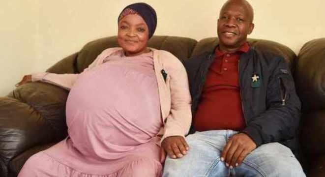 Mulher sul-africana deu à luz 10 bebês e quebrou recorde mundial de nascimentos múltiplos (Foto: IOL News / Reprodução)