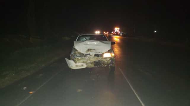 Acidente entre dois veículos deixa condutor ferido na SC-350, em Taió