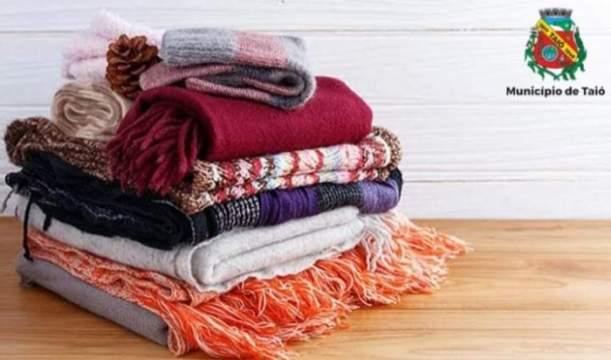 Em semana que promete frio extremo, saiba onde doar cobertores e agasalhos em Taió