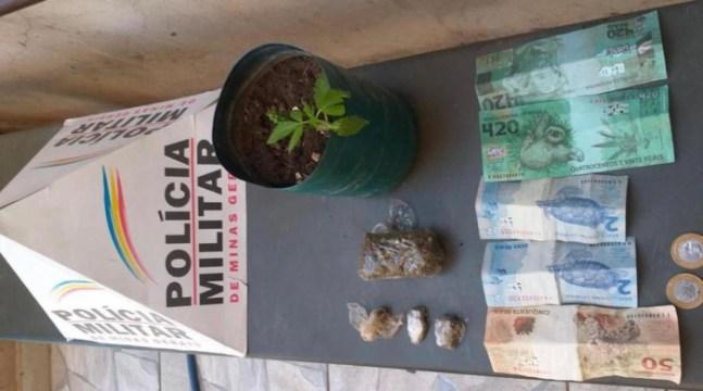 Nota de R$ 420 apreendida pela Polícia Militar em Unaí - MG (Foto: Polícia Militar de Minas Gerais)