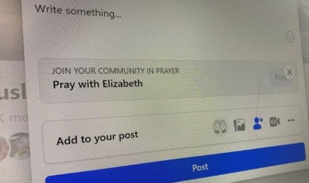 O novo recurso, disponível nos grupos privados, permite que os usuários façam pedidos de oração (Foto: Reuters   /Elizabeth Culliford / Ilustração)