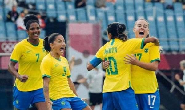 Jogadoras brasileiras estrearam bem nas Olimpíadas (Foto: Sam Robles / CBF)