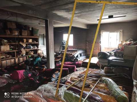 Malharia é atingida por incêndio em Rio do Sul