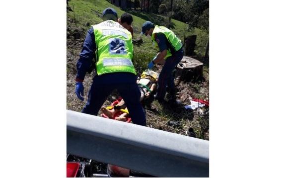 Motociclista morre após acidente na SC-350, próximo à barragem
