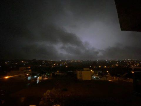Tempestades atingiram a região Oeste de SC (Foto: Willian Ricardo)