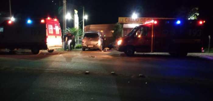 Mulher fica gravemente ferida após ser atropelada por moto na SC-350, em Ibirama