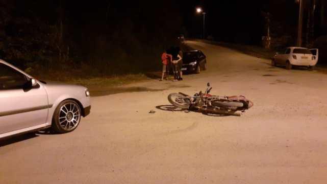 Colisão entre carro e moto é registrada em Taió