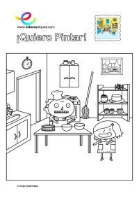 colorear_elsa-cocina