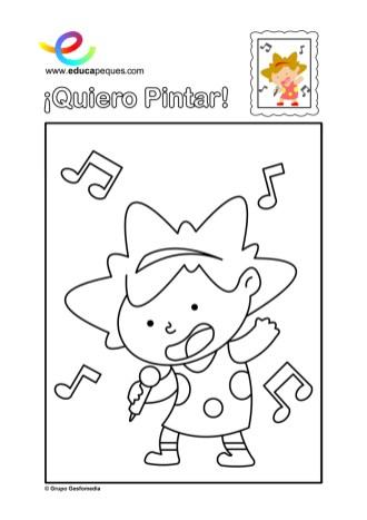 colorear_niña-canta