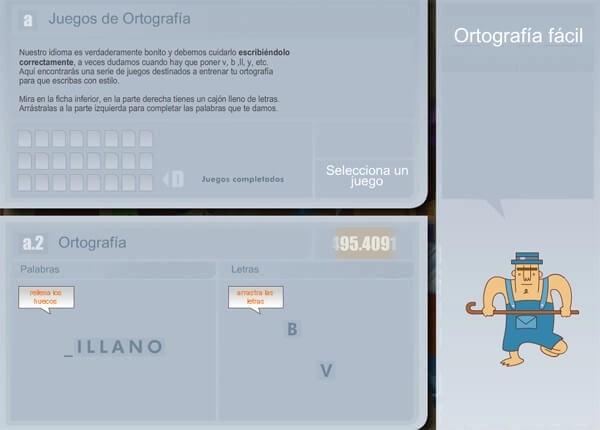 ortografia, lenguajes, juego interactivo