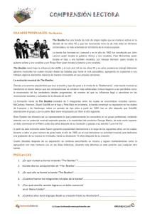 Fichas de compresión lectora: Historia de The-Beatles