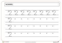 Sexta Fichas de grafomotricidad número dos