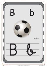 abecedario en color b