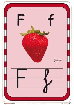 abecedario en color f
