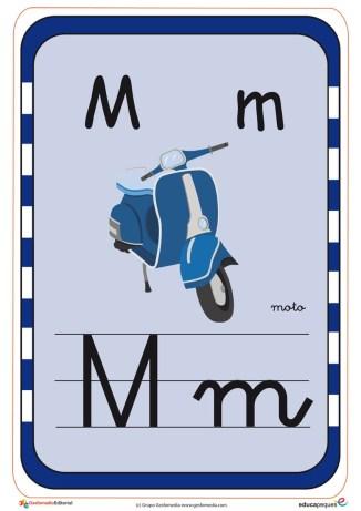 abecedario en color m