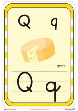 abecedario en color q