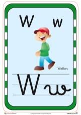 abecedario en color w