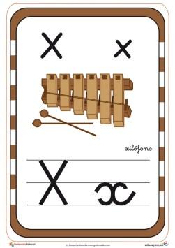 abecedario en color x