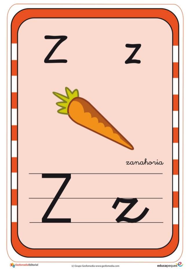 abecedario en color z