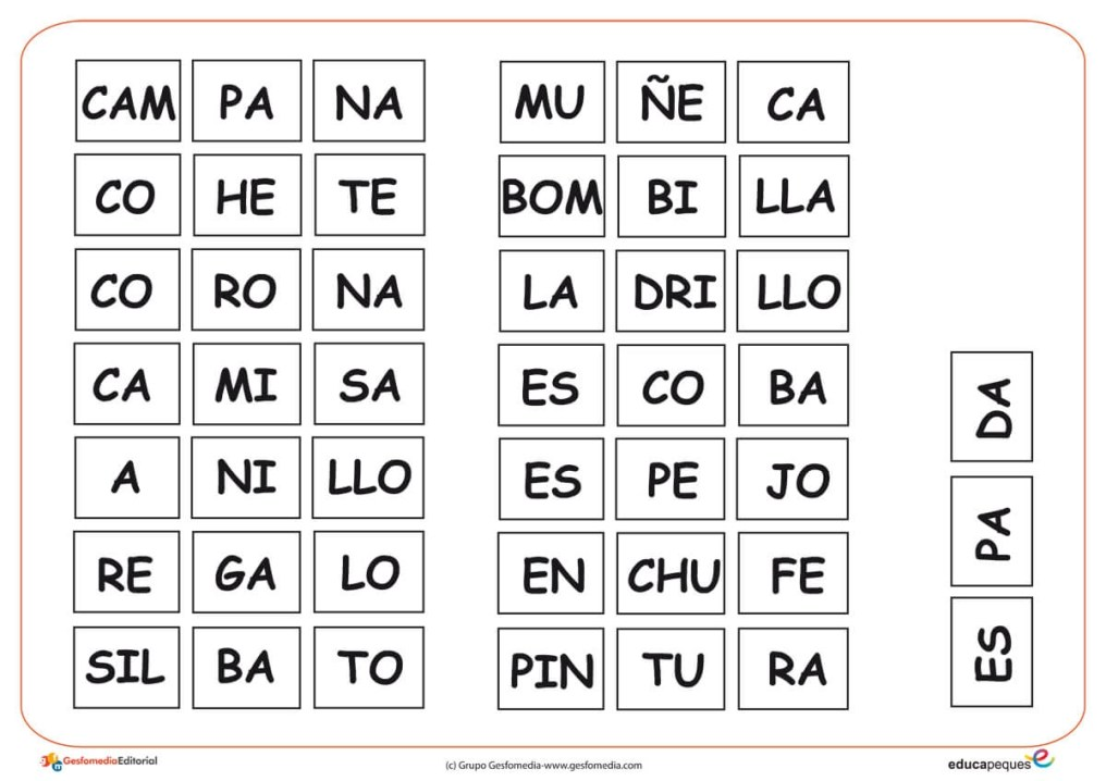 silabas completar 2