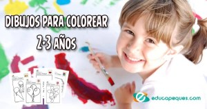 dibujos colorear, dibujos pintar y colorear, 2-3 años