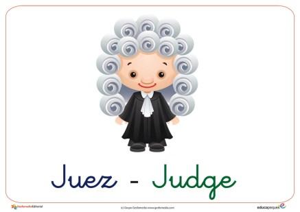 fichas de las profesiones el juez