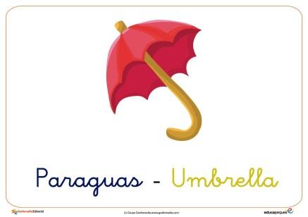 paraguas ficha ropa invierno