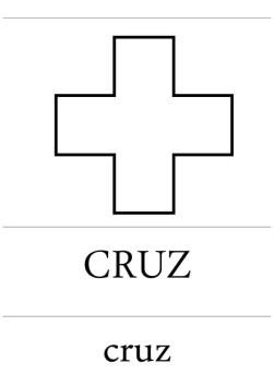 fichas formas geométricas cruz