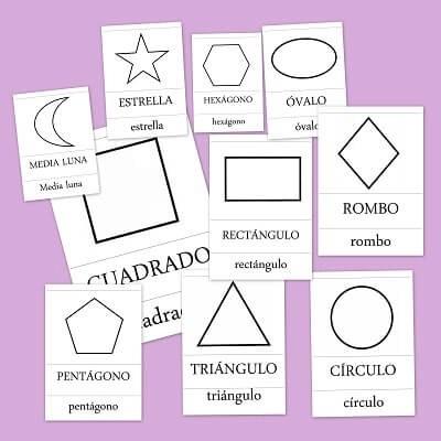 Figuras y formas geométricas básicas para niños de primaria
