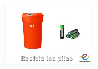 Recicla las pilas
