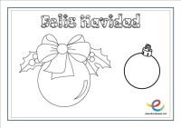 Dibujos para colorear de Navidad. Actividades navideas