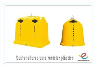 contenedroes para reciclar plático