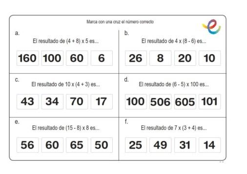 ejercicios de matemáticas 11