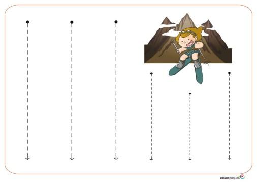 trazos verticales 9