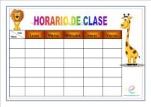 Horarios de clase 03