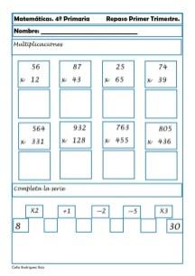 Matemáticas cuarto de primaria 07