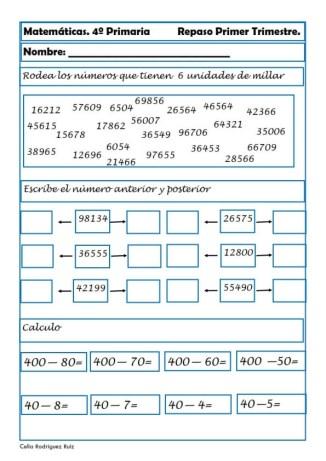 Matemáticas cuarto de primaria 13