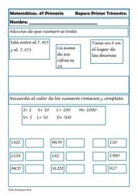Matemáticas cuarto de primaria 19