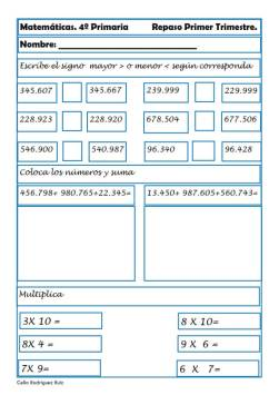 Matemáticas cuarto de primaria 26