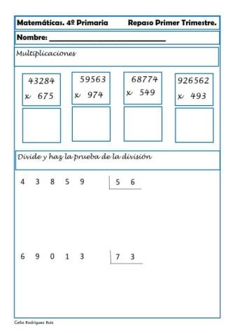 Matemáticas cuarto de primaria 30