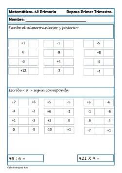 ejercicios matematicas sexto primaria 15