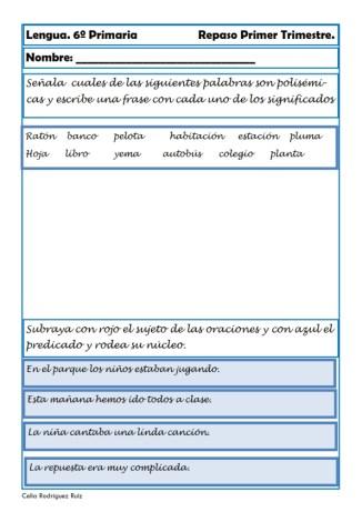 fichas de lengua sexto primaria 13