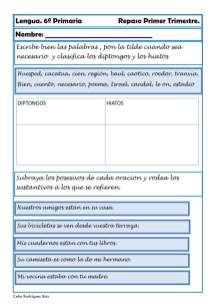 fichas de lengua sexto primaria 19