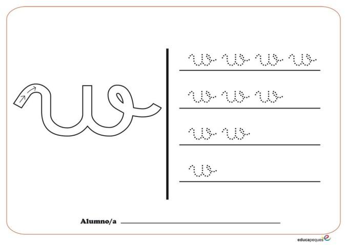 grafo consonantes w