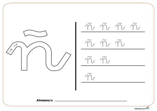 grafo consonantes ñ