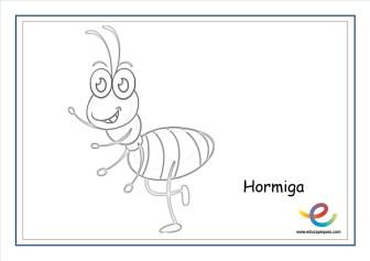 dibujos de primavera hormiga