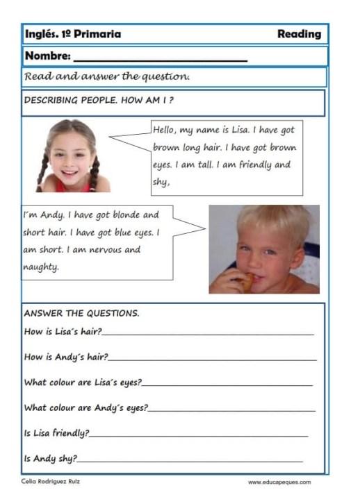 Reading writting ingles primero primaria 19